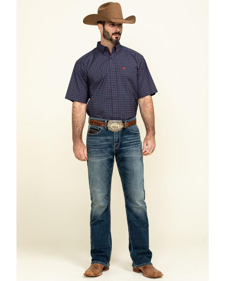 Ariat Men's Norwalk Plaid Short Sleeve Western Shirt - Tall , Multi, hi-res