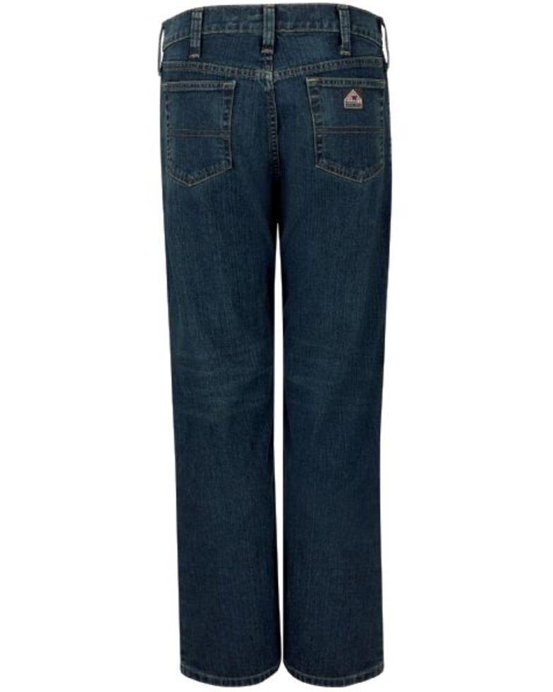 Bulwark Men's FR Stretch Straight Work Jeans , Indigo, hi-res