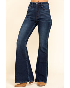 Lee Women's Medium High Rise Vintage Modern Flare Jeans , Blue, hi-res