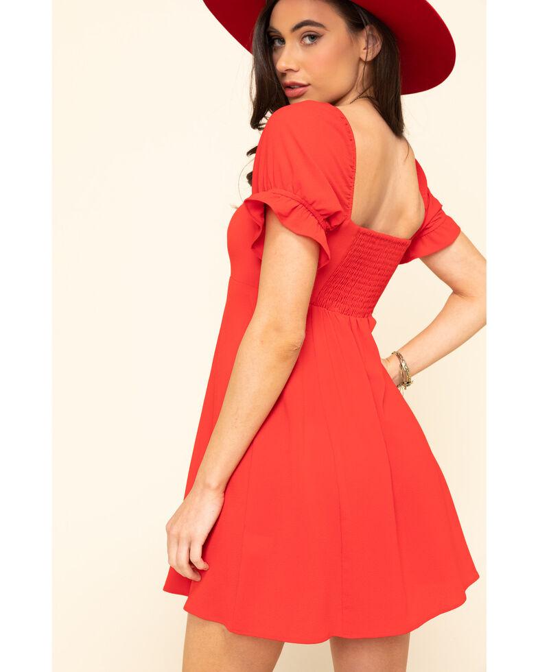 Show Me Your Mumu Women's Red Tango Della Mini Dress, Red, hi-res