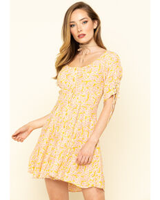 Free People Women's Laced Up Mini Dress, Pink, hi-res