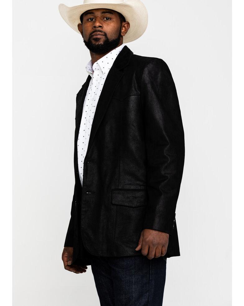 Cody James Men's Black Suede Blazer Jacket , Black, hi-res