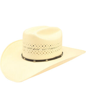 Ariat 20X Cattleman Crease Cowboy Hat, Natural, hi-res
