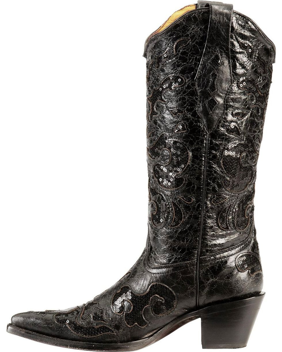 Corral Women's Sequins Inlay Western Boots
