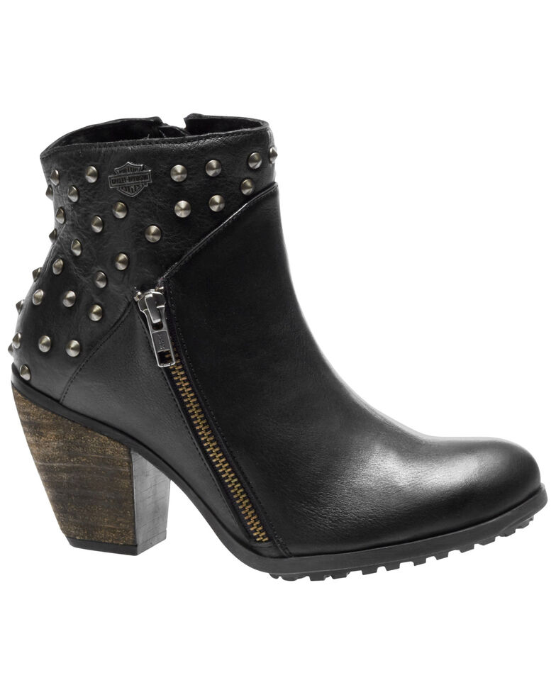 Harley-Davidson Women's Wexford Fashion Booties - Round Toe, Black, hi-res