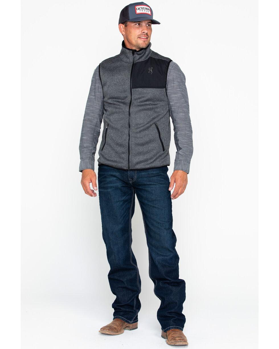 Browning Men's Evans Zip-Up Pocket Vest, Black, hi-res