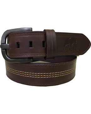 Berne Men's Brown Genuine Leather Belt , Brown, hi-res