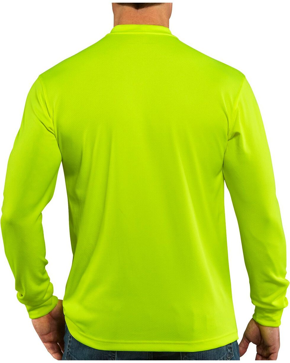Carhartt Men's Long Sleeve Color Enhanced Force T-Shirt, Lime, hi-res