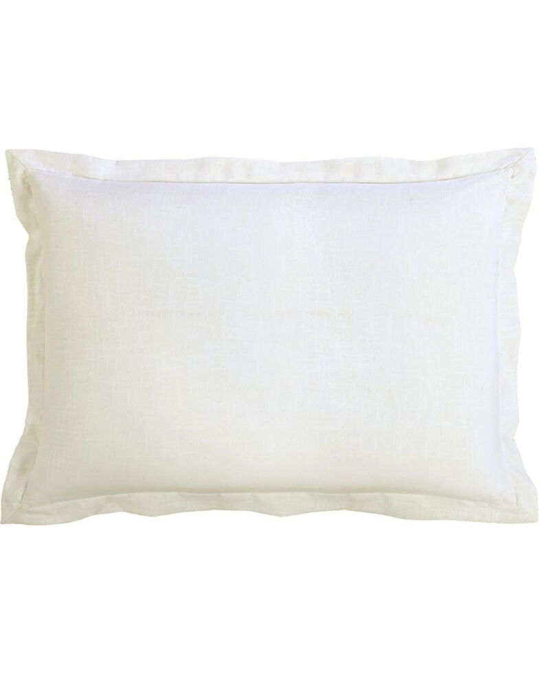 HiEnd Accents White Linen Sham - King Size , White, hi-res