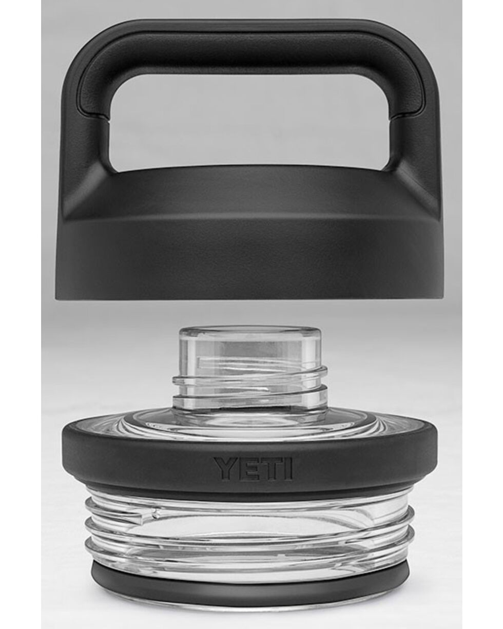 Yeti Black Rambler Bottle Chug Cap , Black, hi-res