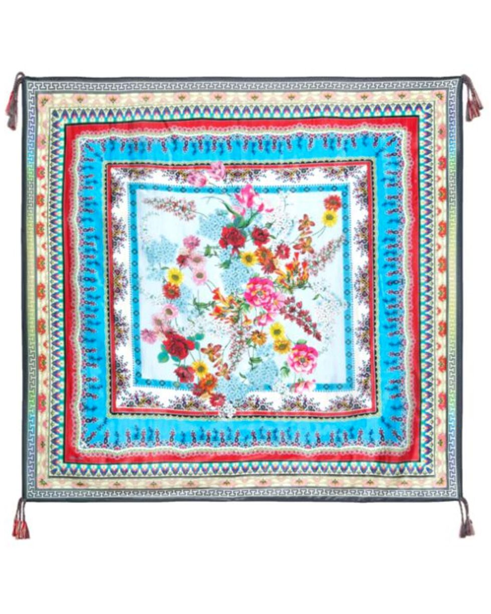 Johnny Was Women's Lotus Frame Scarf, Multi, hi-res
