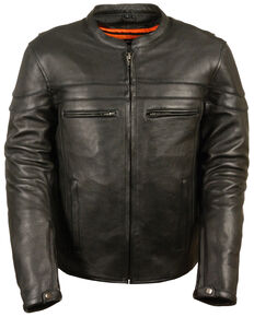 Milwaukee Leather Men's Sporty Scooter Crossover Jacket - 5X, Black, hi-res