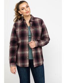 Carhartt Women's Hubbard Sherpa-Lined Shirt Jac, Wine, hi-res