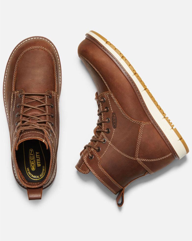 Keen Men's Brown San Jose Work Boots - Aluminum Toe, Lt Brown, hi-res