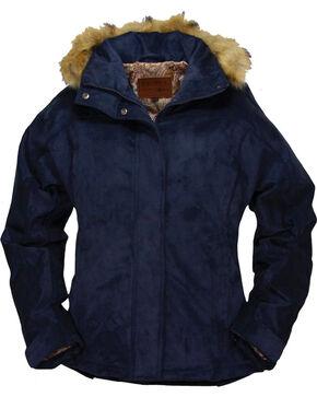 Outback Trading Co. Women's Micro Fleece Coat, Navy, hi-res