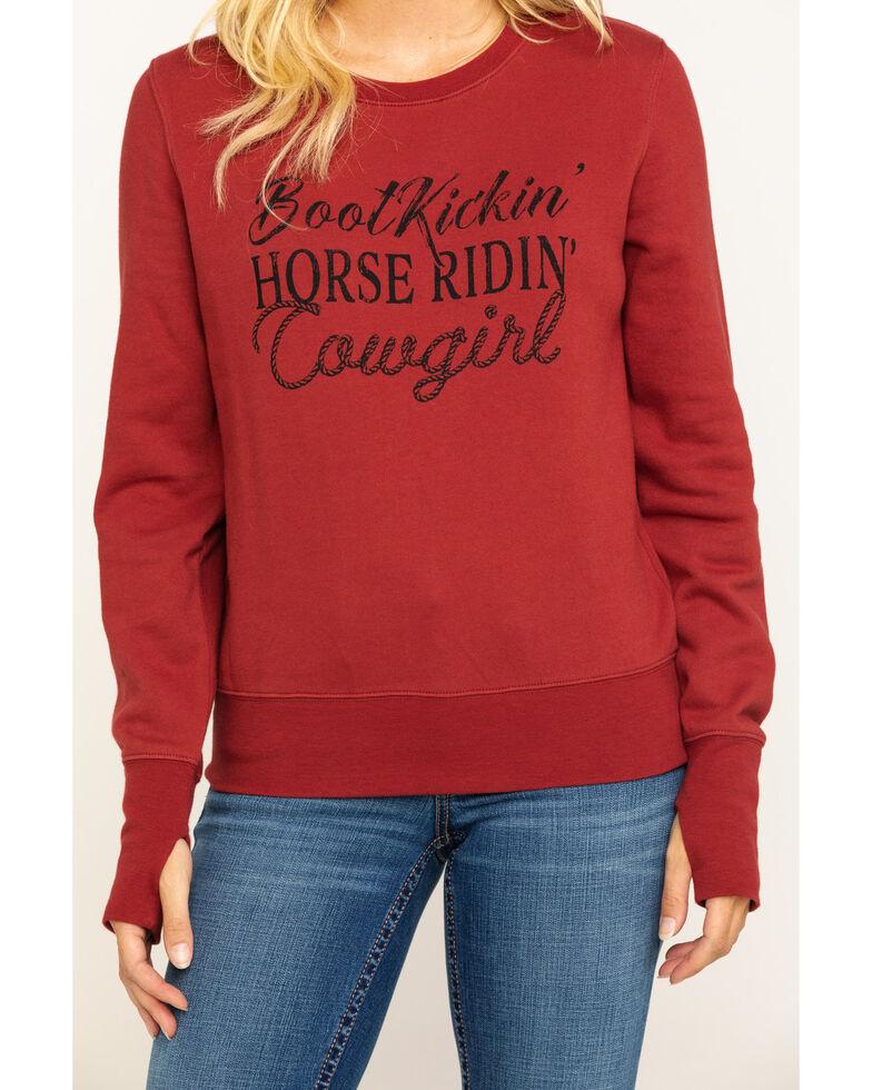 Shyanne Life Women's Rust Cowgirl Sweatshirt , Rust Copper, hi-res