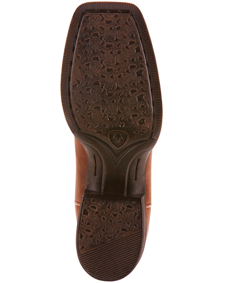 Ariat Women's Round Up Rio Western Performance Boots - Square Toe, Brown, hi-res