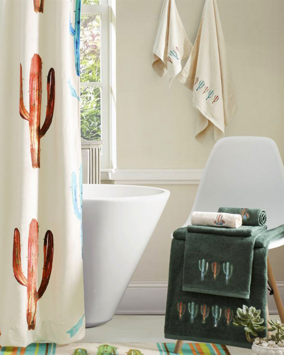 HiEnd Accents Embroidered Cactus Towels - 3 Pieces , , hi-res