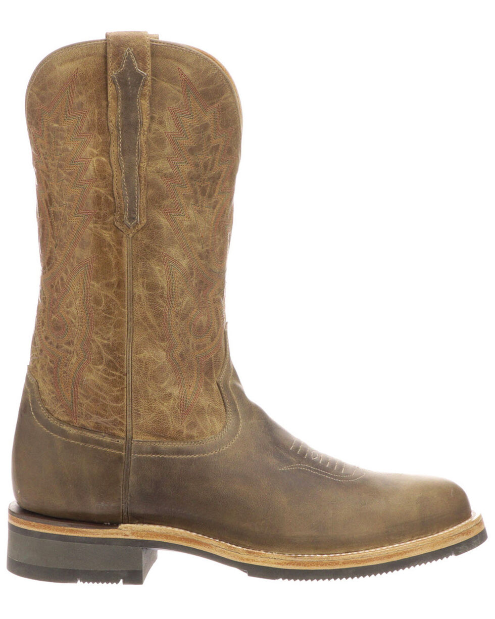 Lucchese Men's Rusty Western Boots - Medium Toe, Grey, hi-res