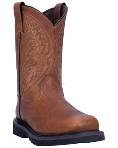 Laredo Men's Colfax Western Work Boots - Steel Toe, Brown, hi-res