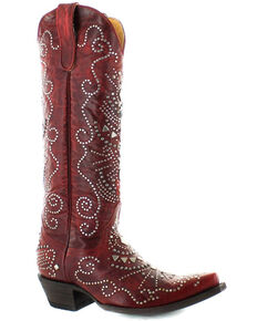 Old Gringo Women's Alyssa Western Boots - Snip Toe, Red, hi-res