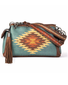 M&F Western Women's Zapotec Satchel, Brown, hi-res
