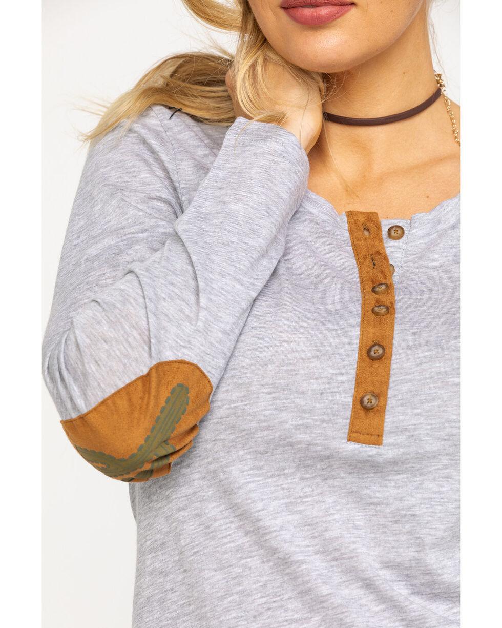 Ariat Women's Mill Henley Long Sleeve Shirt , Heather Grey, hi-res