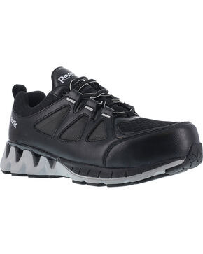 Reebok Women's ZigKick Oxford Athletic Work Shoes - Composite Toe , Black, hi-res