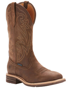 Ariat Men's Tombstone Waterproof Western Boots - Wide Square Toe, Brown, hi-res