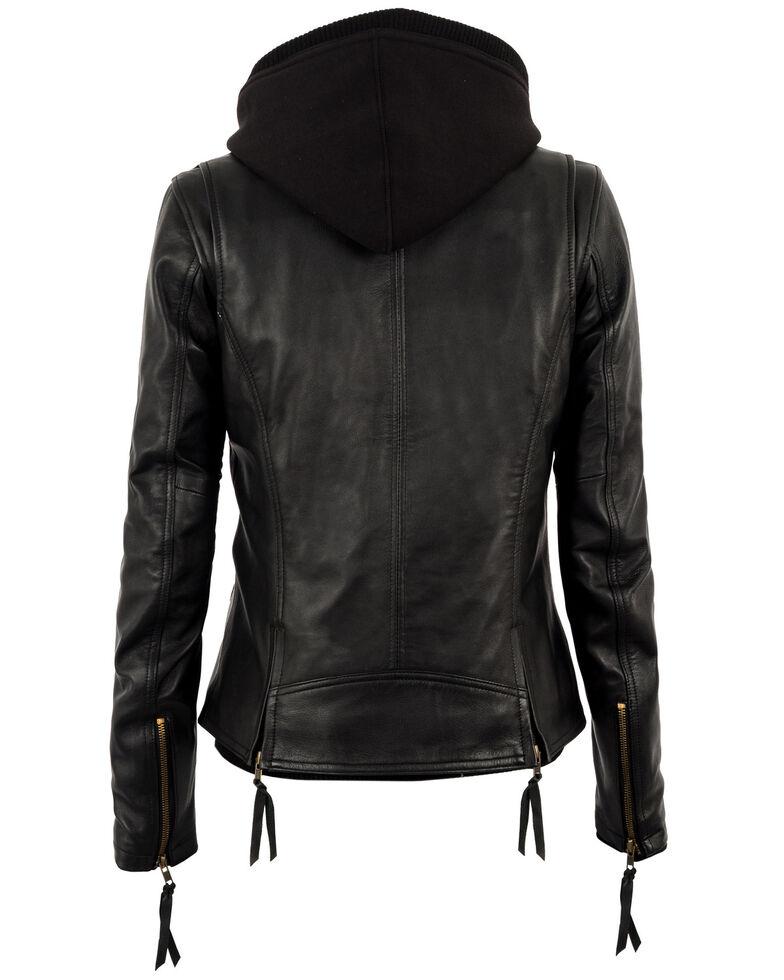 STS Ranchwear Women's Wanderlust Leather Hoodie Jacket, , hi-res