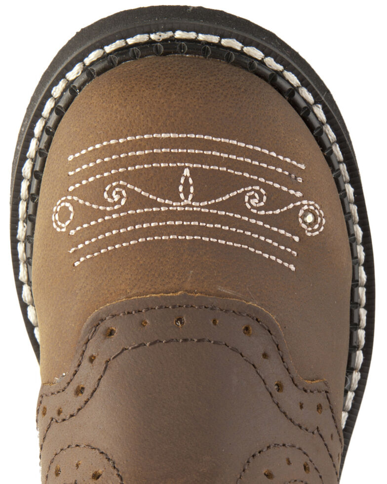 Justin Girls' Gypsy Light Up Cross Embroidered Cowgirl Boots, Bay Apache, hi-res