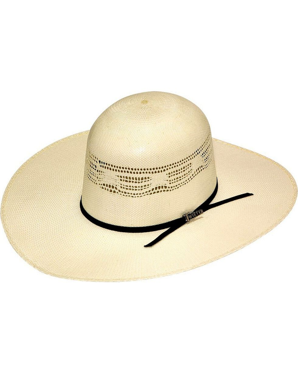 Twister Premium Bangora Open Crown Straw Cowboy Hat, Natural, hi-res