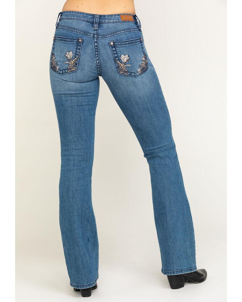 Shyanne Women's Light Wash Floral Bootcut Jeans, , hi-res