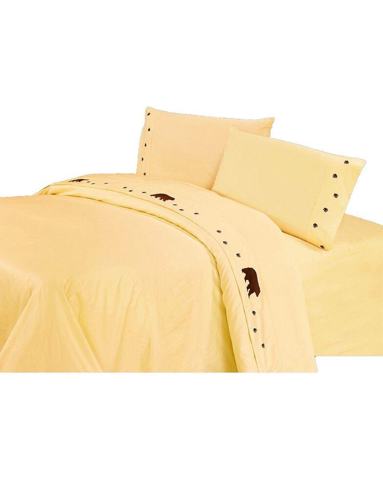 HiEnd Accents Embroidered Bear Cream Sheet Set - Queen, Cream, hi-res
