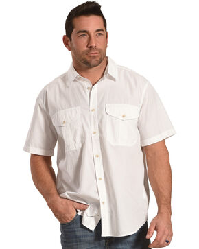 Filson Men's White Feather Cloth Short Sleeve Shirt , White, hi-res