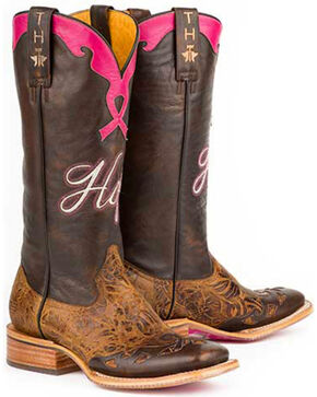 Tin Haul Women's Hope Western Boots, Brown, hi-res