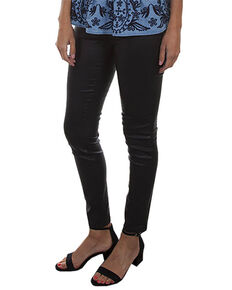 Honey Creek by Scully Women's Black Leggings With Back Pocket, Black, hi-res