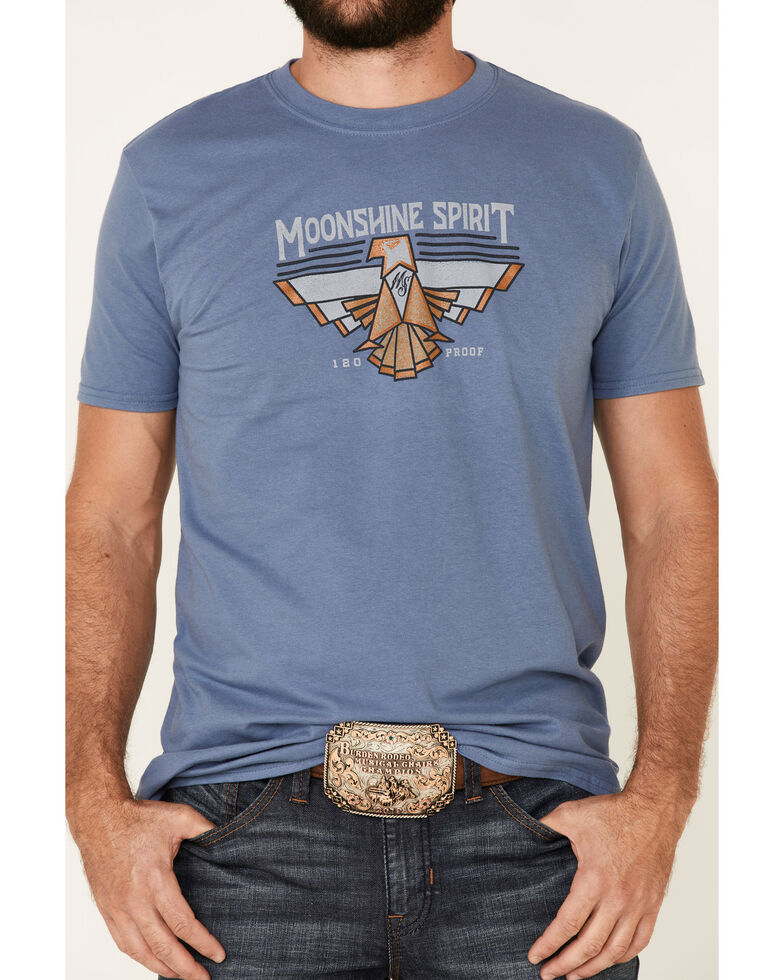 Moonshine Spirit Men's Navy Aztec Eagle Graphic T-Shirt , Navy, hi-res