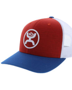 HOOey Men's Red O Classic Trucker Cap, Red, hi-res