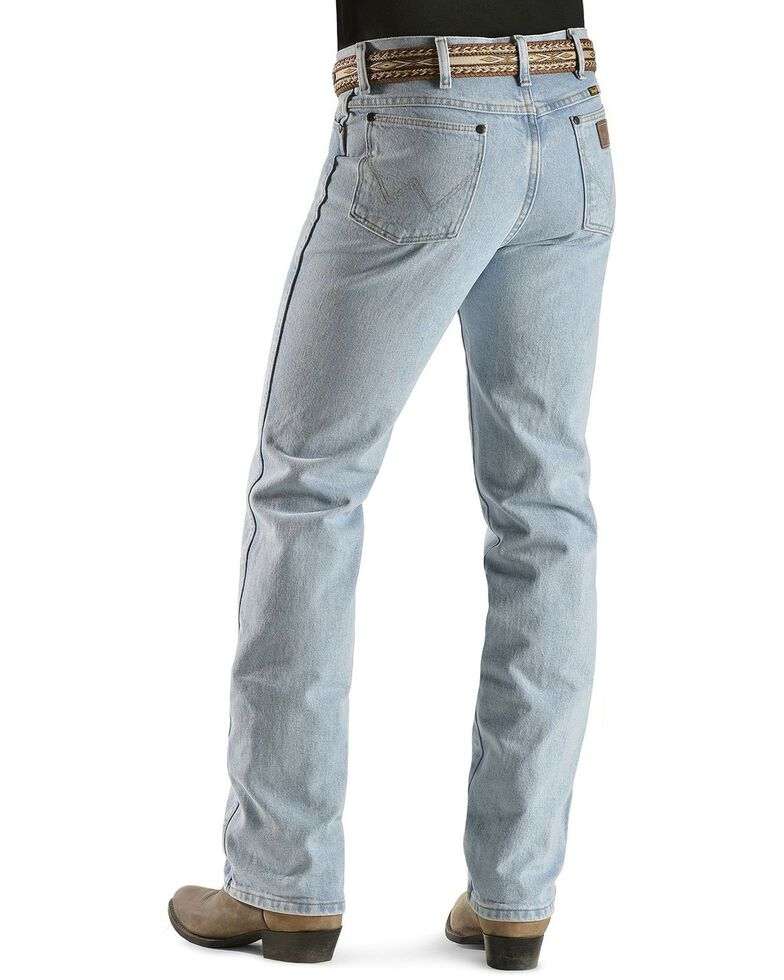 Wrangler Men's Cowboy Cut Slim Fit Jeans, Bleach Indigo, hi-res