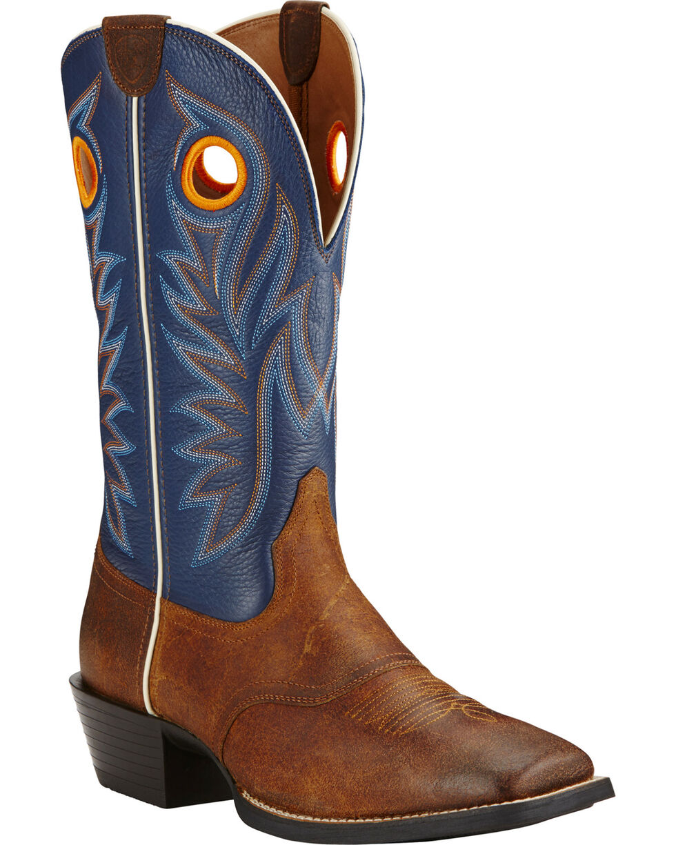 Ariat Men's Federal Blue Sport Outrider Western Boots, Brown, hi-res