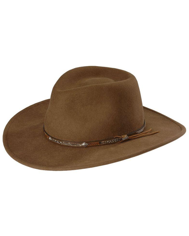 Stetson Men's Acorn Mountain Sky Crushable Wool Felt Hat, Acorn, hi-res