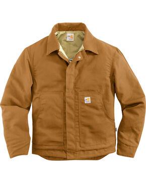 Carhartt Men's Flame-Resistant Canvas Dearborn Jacket, Carhartt Brown, hi-res
