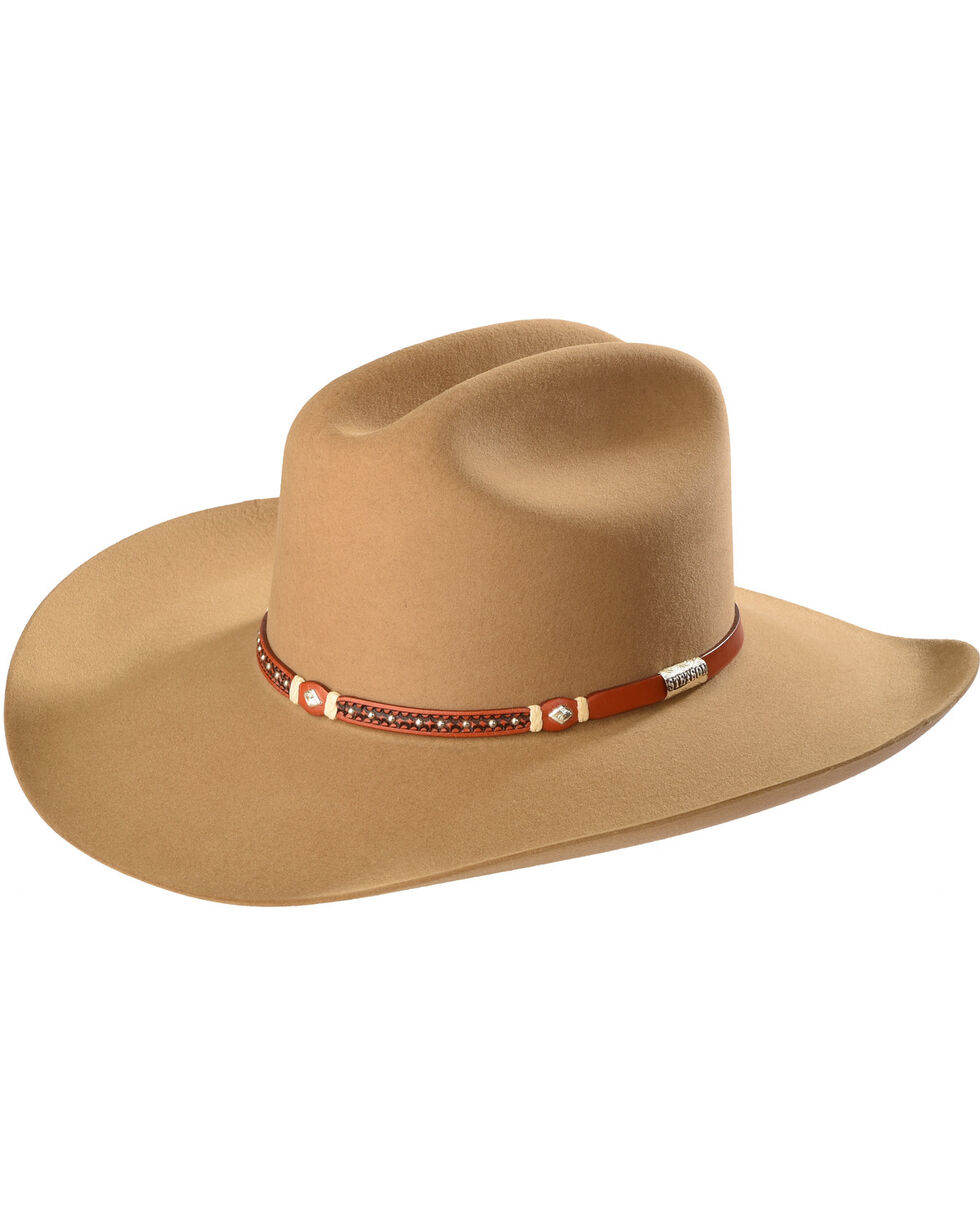 Stetson Men's Light Brown Monterey T Felt Hat , Lt Brown, hi-res