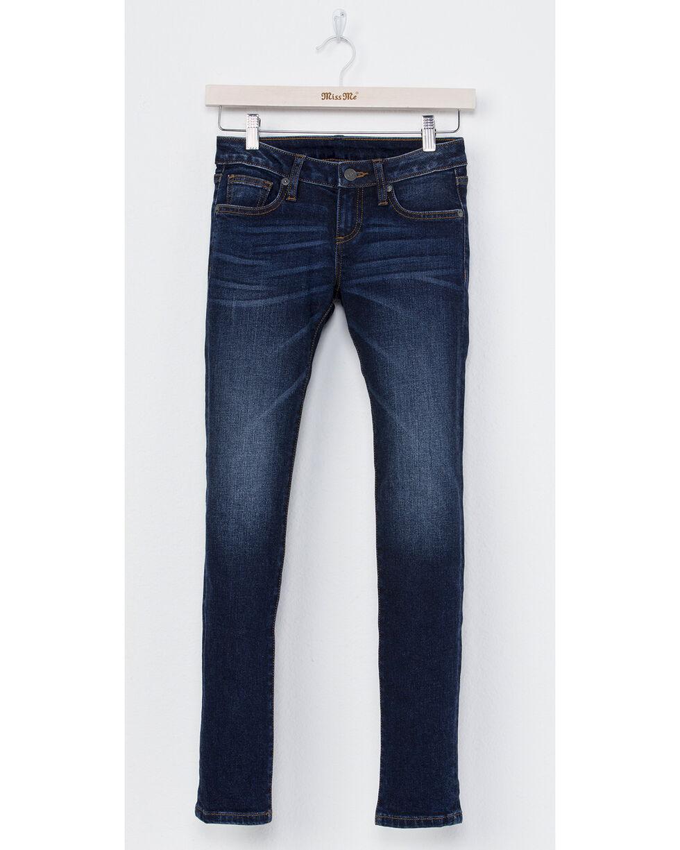 Miss Me Girls' Classic Skinny Jeans, Indigo, hi-res