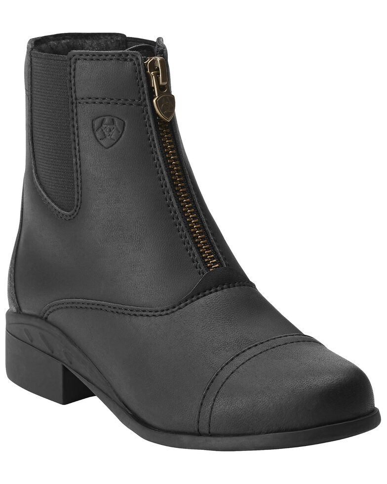 Ariat Kids' Scout Paddock Boots, Black, hi-res