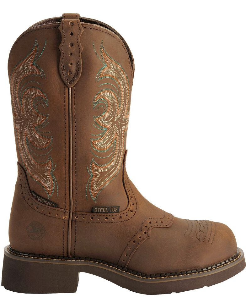 Justin Gypsy Women's Waterproof Steel Toe Work Boots, Aged Bark, hi-res