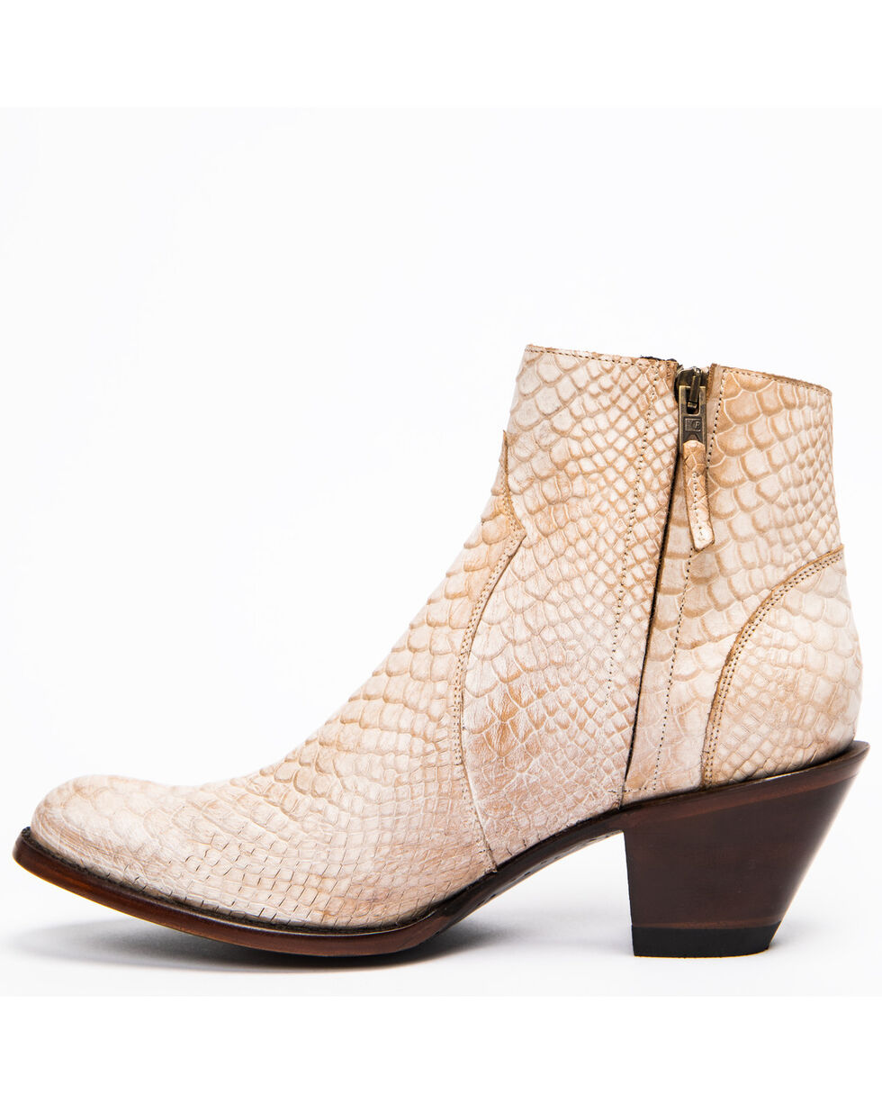 Idyllwind Women's Wings Bone Western Booties - Round Toe, Ivory, hi-res