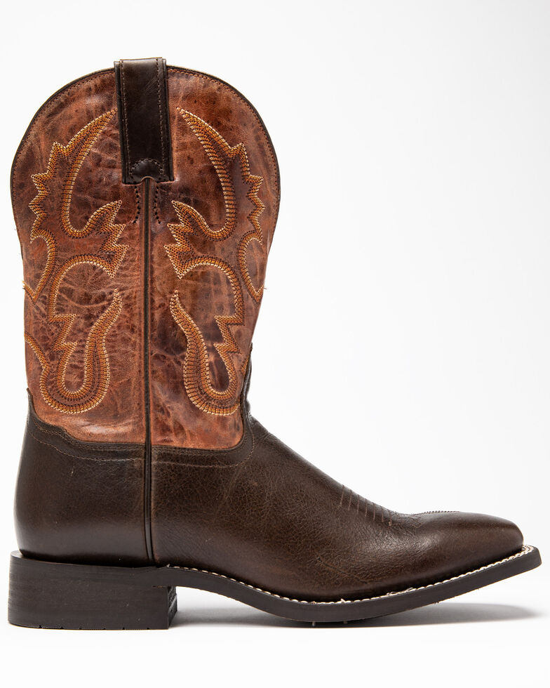 Cody James Men's Justified Western Boots - Wide Square Toe, Chocolate, hi-res