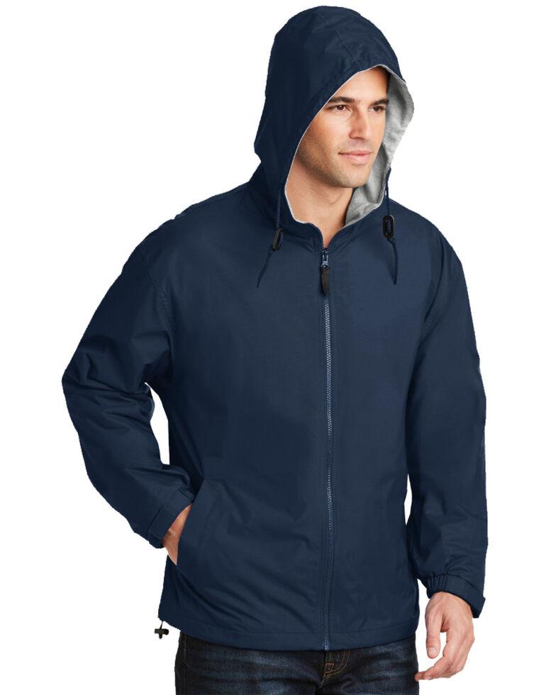 Port Authority Men's Team Hooded Work Jacket , Navy, hi-res